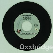 Frankie Lymon RARE MISPRINT LABEL I Want You To Be My Girl/Not A Know GEE