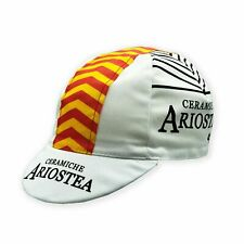 CERAMICHE ARIOSTEA RETRO VINTAGE CYCLING TEAM SUMMER MADE ITALY BIKE HAT CAP