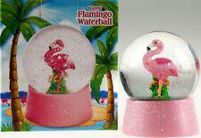 Flamingo 8cm Glitter Snow Globe / Water Ball Ornament