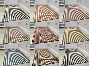 New Machine Washable Non Slip Mats Modern Colours Striped Kitchen Utility Runner