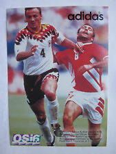 "Jurgen Kohler Germany on 1994 World Cup adidas Post Card  5"" x 7"" Hristo Stoichk"