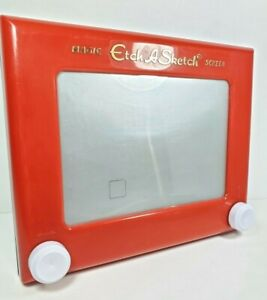 """Spin Art Magic Etch A Sketch 9"""" Classic Vintage Toy Works Great #505 New Knobs"""