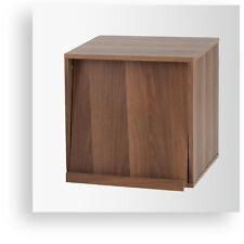 Vinyl Book Storage Display Shelf Brown Open Door Combination Rack UNB-DIS2BR NEW