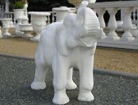 Elefant Tierfigur Steinguss Elefantenfigur Steinfiguren Marmor