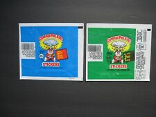 GARBAGE PAIL KIDS Wrappers 2nd Series 1985 +3rd Series 1986 Original No Stickers