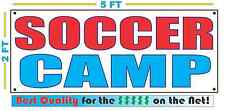 SOCCER CAMP Banner Sign NEW 2x5