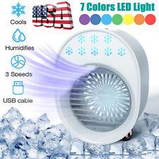 Portable Usb Air Cooler Mini Air Conditioner Fan Humidifier Personal Desktop Fan
