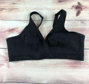 Lane Bryant Cacique Cotton No Wire Full Coverage Bra Size 40C Black
