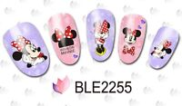 Nail Art Water Decals Stickers RED Mickey Mouse Minnie Mouse Bows (2255)