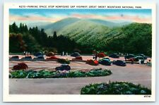 Postcard Great Smoky Mountains National Park Newfound Gap Highway Parking C2