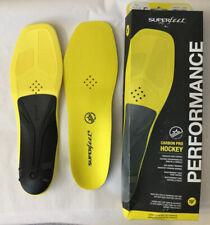 Superfeet Carbon Pro Hockey Shoe Insoles, Blaze Yellow Large E Skate 9-10