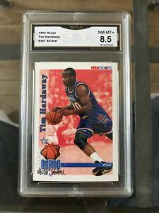 Tim Hardaway 1992 NBA Hoops #307 All-Star Grade NM-MT+ 8.5 Golden State Warriors