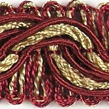 Top Posamentenborte 16 mm (1,0 €/m) Rot & Gold Bordüre Spitzenborte Fransenborte