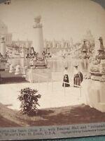 Lagoon w Festival Hall 1904 St.Louis World's Fair - antique stereoview