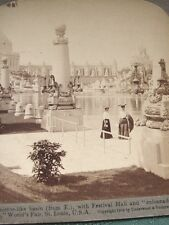 Lagoon w Festival Hall 1904 St.Louis World's Fair - antique stereoview