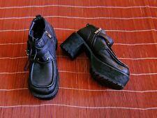 The White Pepper Black Heeled Platform Gothic Boots.7 UK Women