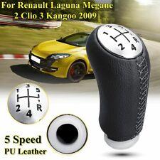 5 Velocidad Negro Gear Knob Shift Stick Para Renault Laguna Megane2 Clio3 Kangoo