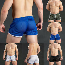 Mens Sport Shorts Summer Gym Workout Beach Breathable Mesh Quick Dry Short Pants