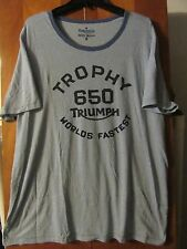 Triumph Motorcycles- Licensed Trophy 650 Worlds Fastest- Baby Blue T-Shirt- XXL