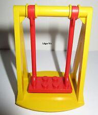 Lego Fabuland 2044 2045 complet balancoire swing Rouge Jaune du 3676 & 3659