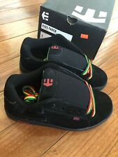 Etnies Kids Fader Black / Rasta Sneakers Lace Up Skate Shoes 3 - Brand New