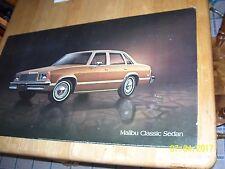 Vintage 1978 Malibu Dealer Showroom Poster Sign 32x18, Cardboard