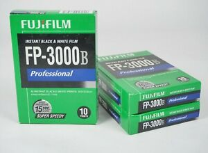 3 Packs FujiFilm FP-3000B B/W Film. Fridge Stored. Expired 2014