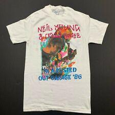 Vintage Neil Young Crazy Horse 1986 Authentic Concert T-Shirt Medium 80s Rare
