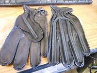 NOS Vintage Motocross Chopper Racing Black Ribbed Gloves Large AHRMA VMX