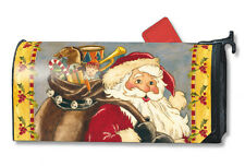 "ST NICK SANTA CLAUS CHRISTMAS HOLIDAY MAGNETIC MAILBOX COVER & 1"" NUMBERS"