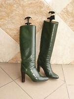 "Bottes  vintage  ""Verte""   LYDIA    ---   T.  38"