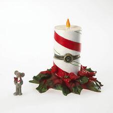 Boyds Bears 1E Noel's Festive Candle Treasure Box w/Wick McNibble 4022283