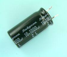 12pcs Rubycon ZL 1000uf 16v 105C Radial Capacitor NEW