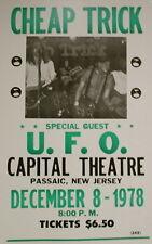 "Cheap Trick Concert Poster 1978 w/ U.F.O - Capital Theatre - New Jersey 14""x22"""