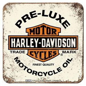 Nostalgic Art Metalluntersetzer Harley Davidson Preluxe Oil 9 x 9