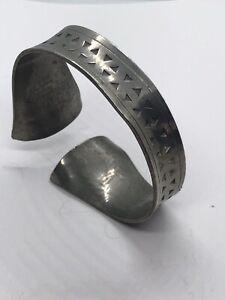 Vintage Jorgen Jensen Pewter Danish Mid Century Bracelet Bangle Cuff 1960's