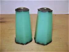 Pr. Houze Jadeite Glass Lamp Spacers