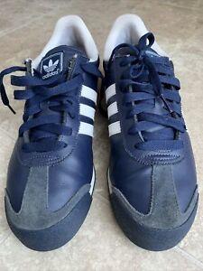 Adidas Originals Samoa G24861 Navy Blue White Athletic Sneaker Men's Size 10