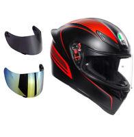 casco moto agv k1 warmup + visiera specchio+ visiera fume' + trasparente