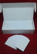 500 CR80 30Mil White Blank PVC Plastic Cards for Photo ID card thermal printers