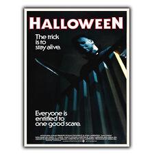 HALLOWEEN METAL SIGN WALL PLAQUE Film Movie Advert poster print mancave cinema
