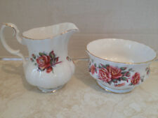 Royal Albert Fine Bone China Centennial Rose Sugar Bowl & Creamer