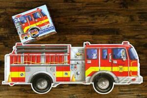 Melissa & Doug GIANT FIRE TRUCK 24 Pc Floor Puzzle 2 x 4 Feet Ages 3+