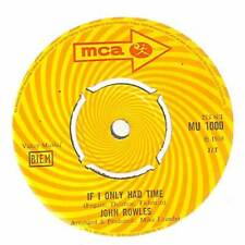 "John Rowles - If I Only Had Time - 7"" Vinyl Record Single"