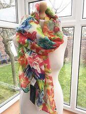 Zara  Very Rare Large Multi Colour Floral Scarf BNWT