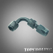Black AN6 90 Degree Swivel Fuel Oil Hose End Fitting Adapter