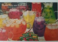 1961 there's only one Kool-Aid  smiley face pitchers vintage two page ad