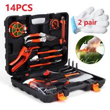 More details for 14x gardening tools set gift garden hand tool kit diy non slip ergonomic qg