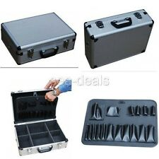 Aluminium Storage Briefcase Carrying Hand Tools Lock Case Accessories Organizer
