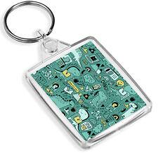 Gadget Dino Keyring Dinosaur Office Kids Funny Joke Cartoon Green Gift #15646